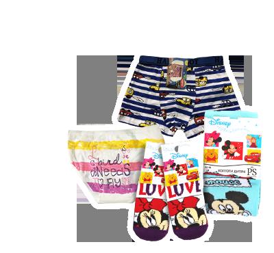 Детское белье, носки, колготки, в ассортименте